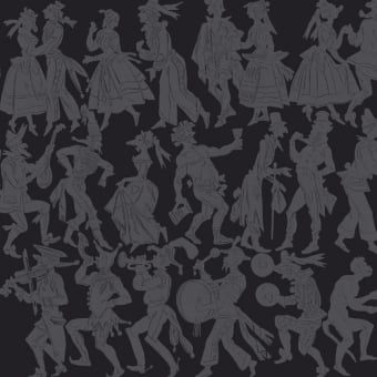 Carnaval Panel Noir Maison Images d'Epinal