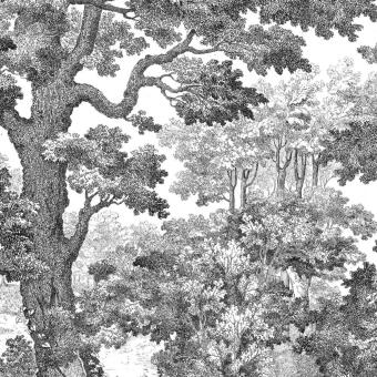 Forêt 2 Panel 200x318 cm - 2 lés - côté droit Maison Images d'Epinal