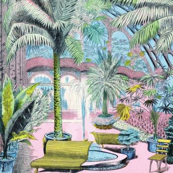Jardin d'Hiver Panel Rose Maison Images d'Epinal