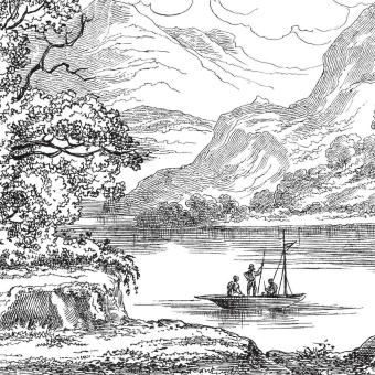 Lac panel 200x316 cm - 2 lés - coté gauche Maison Images d'Epinal