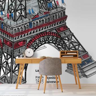 Tour Eiffel Panel 385x296 cm Maison Images d'Epinal