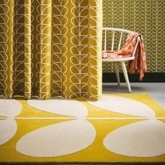 Yellow Stem Rug 120x180 cm Orla Kiely