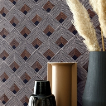 Ondes Wallpaper Bordeaux Casamance