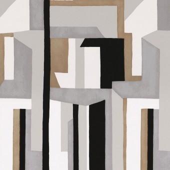 Papier peint Jazz Marine/Bordeaux Casamance