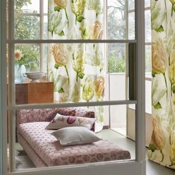 Tissu Spring Tulip Buttermilk Designers Guild