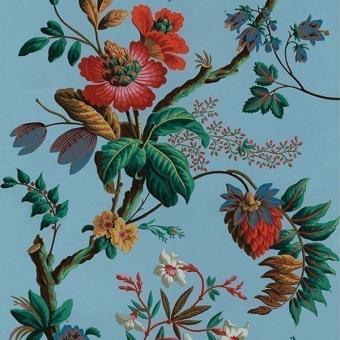 Panneau Fleurs de Fantaisie Bleu Le Grand Siècle