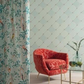 Palm House Trellis Wallpaper Blossom Osborne and Little