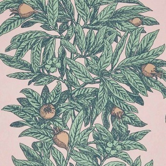 Medlar Wallpaper Beige Osborne and Little