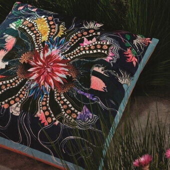 Ocean Blooms Cushion Ruisseau Christian Lacroix