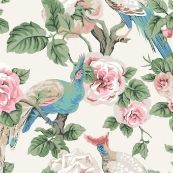 Papier peint Garden Plume Blue/Cream York Wallcoverings