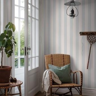 Falsterbo Stripe Wallpaper Beige Borastapeter