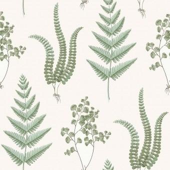 Herba Wallpaper White Borastapeter