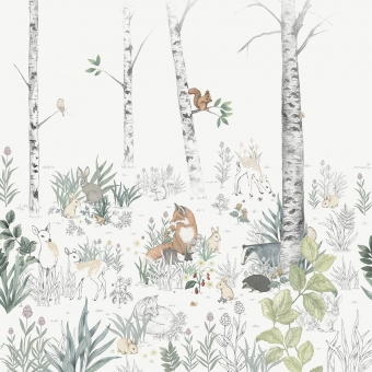 Panneau Magic Forest Natural Borastapeter