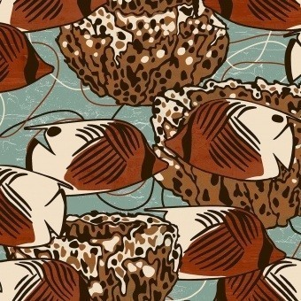 Moorea Fabric Apricot Nobilis