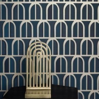 Venice Wallpaper Blue Borastapeter