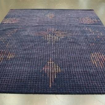 Tumulte Dark Blue Rug 200x300 cm Golran