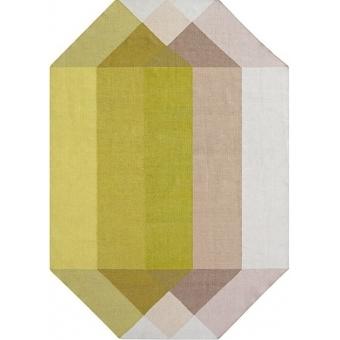 Diamond Pink Yellow Rug 170x220 cm Gan Rugs