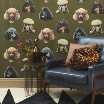 Poodle Parlour Wallpaper Midnight Poodle and Blonde