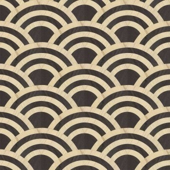 Lucky O's Wallcovering Birch/Black Arte