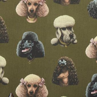 Papier peint Poodle Parlour Midnight Poodle and Blonde