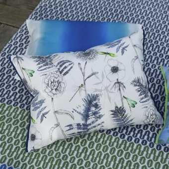 Acanthus outdoor Cushion Indigo Designers Guild