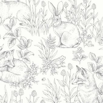 Forest Friends Wallpaper Green Borastapeter