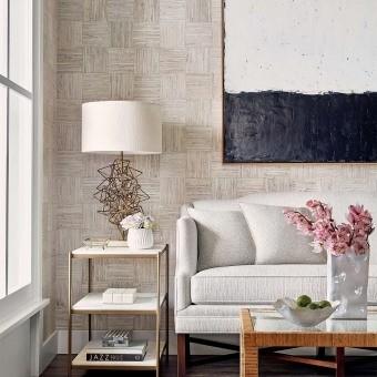 Mosaic Weave Wallpaper Aqua Thibaut