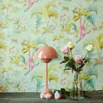 Papier peint Palm Scene Blanc/Crème Pip Studio