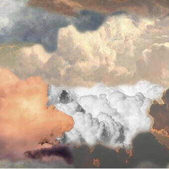 Tapis Walking on Clouds Dawn paysage 300x200 cm MOOOI