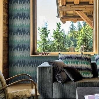 Alps Wallpaper Brown Missoni Home