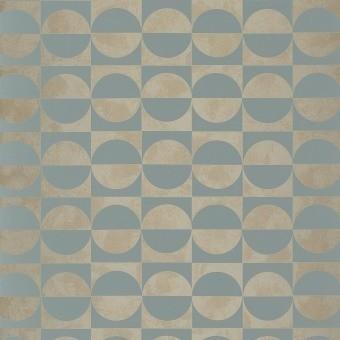 Papier peint Circles Blanc/Orange Casamance