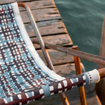 Outcross Outdoor Fabric Caraibi Rose Dominique Kieffer