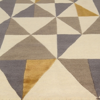 Tapis Diamantina Yellow Grey par Gio Ponti 170x240 cm AMINI