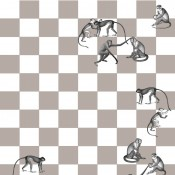 Papier peint Checkmate 265x135 cm Cole and Son