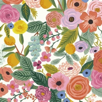 Papier peint Garden Party Burgundy Multi Rifle Paper Co.