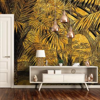 Jardin d'Hiver Doré Panel 384x224 cm - 4 lés Maison Images d'Epinal