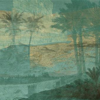 Aux portes de l'Atlas Panel Bleu vert Quinsaï