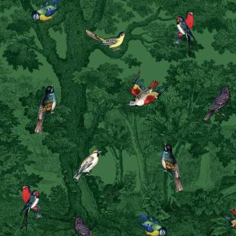 Forêt aux Oiseaux Panel 295x280 cm - 3 lés Maison Images d'Epinal