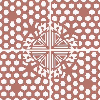 Alvéole cement Tile Vieux rose Beauregard Studio
