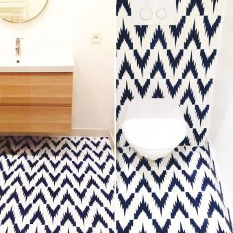 Dynamique cement Tile Bleu Beauregard Studio