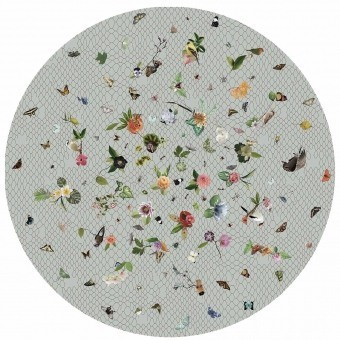 Garden of Eden rond Rug Light grey MOOOI