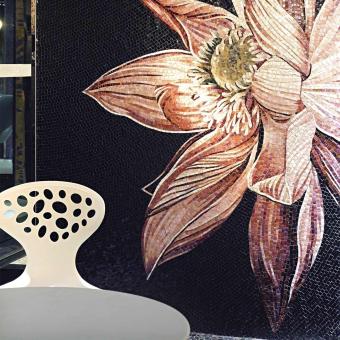 Dalia Mosaic Nero/Rosa Vitrex