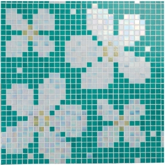 Margherite Mosaic floor and wall -  thickness 0,4 cm Vitrex