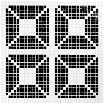 Quadro Mosaic Bianco/Nero Vitrex
