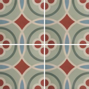 Vitrail cement Tile Multicolor Carodeco