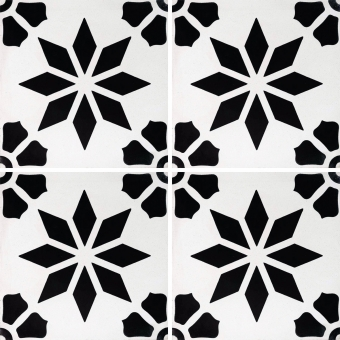Monochrome cement Tile Black Carodeco