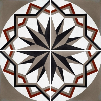 Kaléidoscope cement Tile Moleskin Carodeco