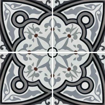 Fleur cement Tile Slate Carodeco
