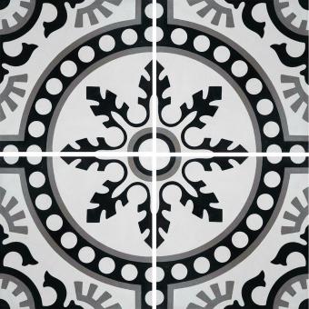 Moderne cement Tile Parchment Carodeco