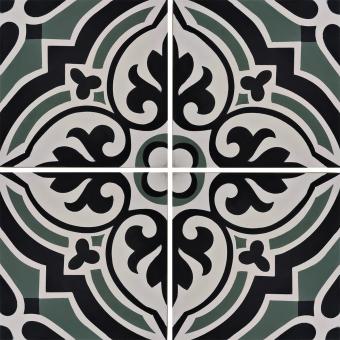 Arabesque cement Tile Céladon Carodeco